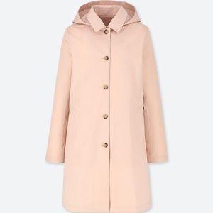 Uniqlo blocktech soutien collar coat Pink